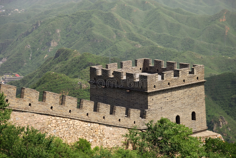 Tower on Great Wall of China stock photos