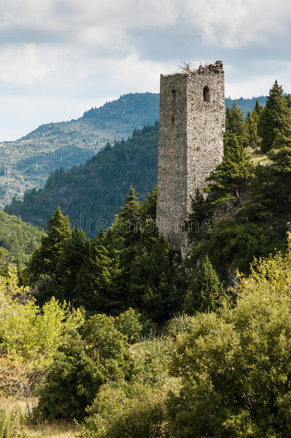 Download Tower in Greece stock photo. Image of landscape, place - 27037580