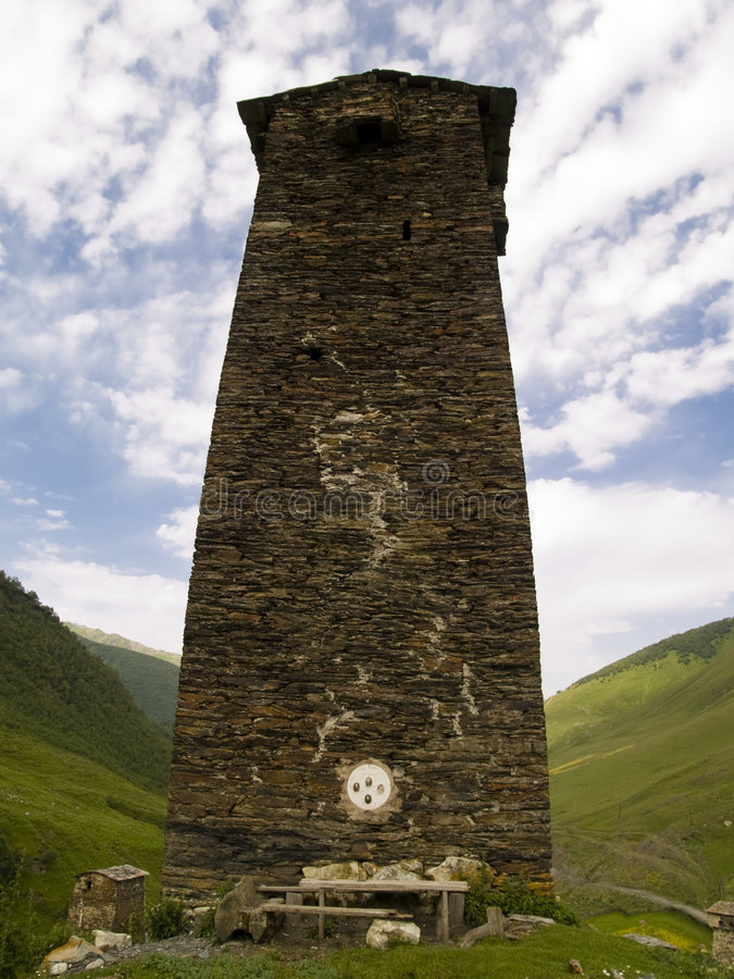 Tower on the hill royalty free stock photos