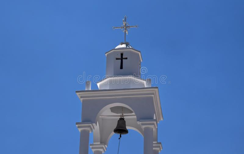 Tower of Holy Monastery of Saint Philimon stock photo