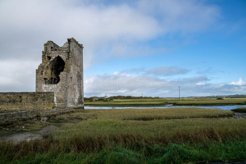 Tower house of Carrigafoyle castle stock images