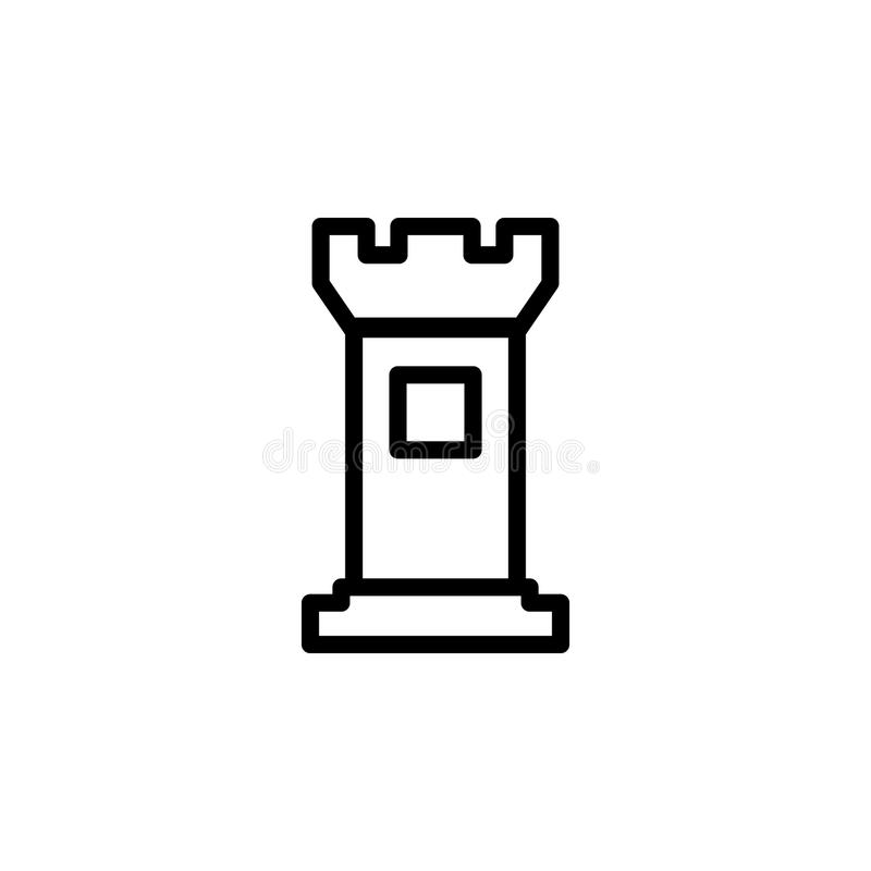 Tower icon. Element of minimalistic icons for mobile concept and web apps. Thin line icon for website design and development, app. Development on white vector illustration