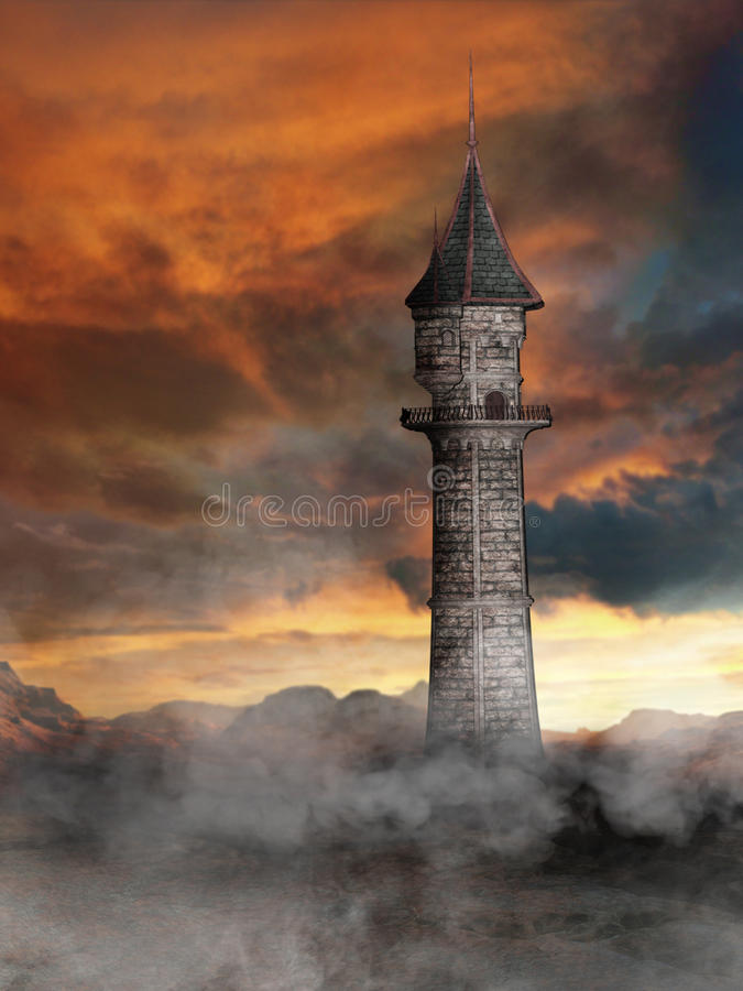 Free Tower In Fantasy World Royalty Free Stock Photos - 50175248