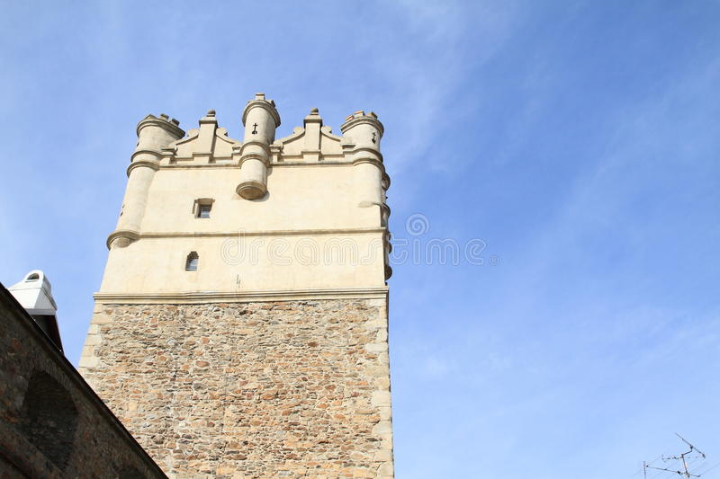 Tower In Jihlava. Stone gothic tower in city Jihlava, Czech Republic royalty free stock photography