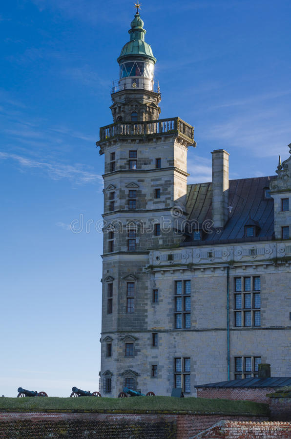 Tower of the Kronborg Castle, Denmark royalty free stock photography