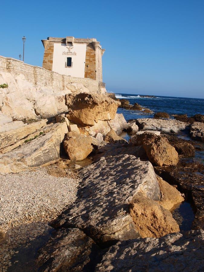 Tower of Ligny, Trapani, Sicily, Italy stock image