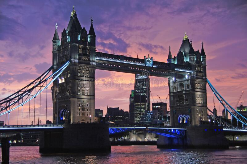 Tower of London Bridge, London, England royalty free stock images
