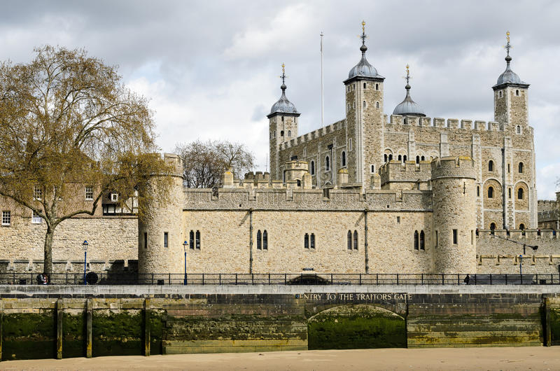 Tower of London with cloudy sky royalty free stock image