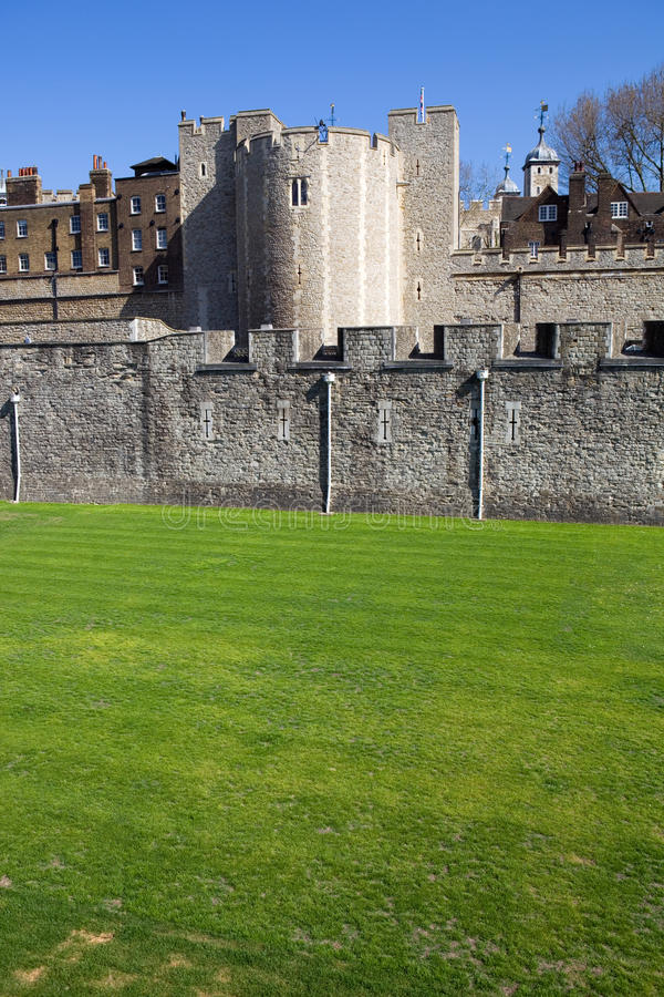 Tower of London. The Tower of London, medieval castle and prison royalty free stock image