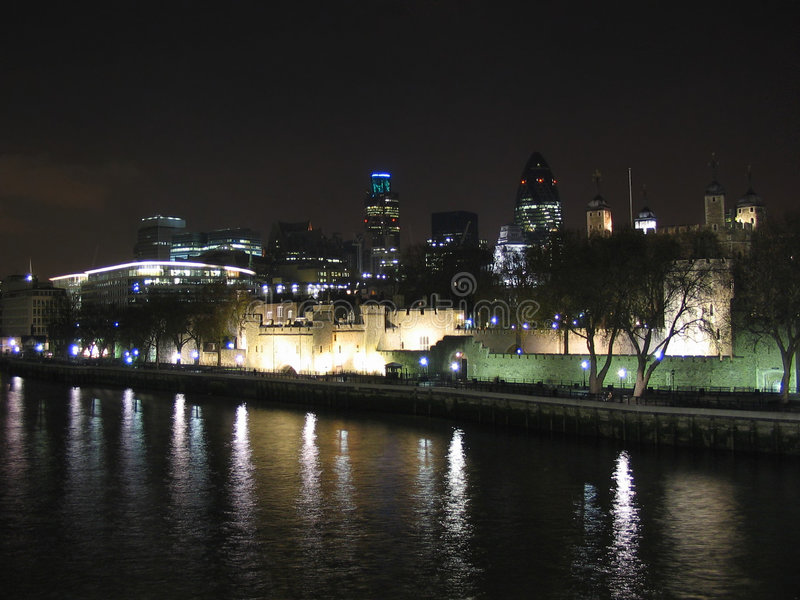 Download Tower Of London And The Modern Towers Stock Photo - Image: 563656