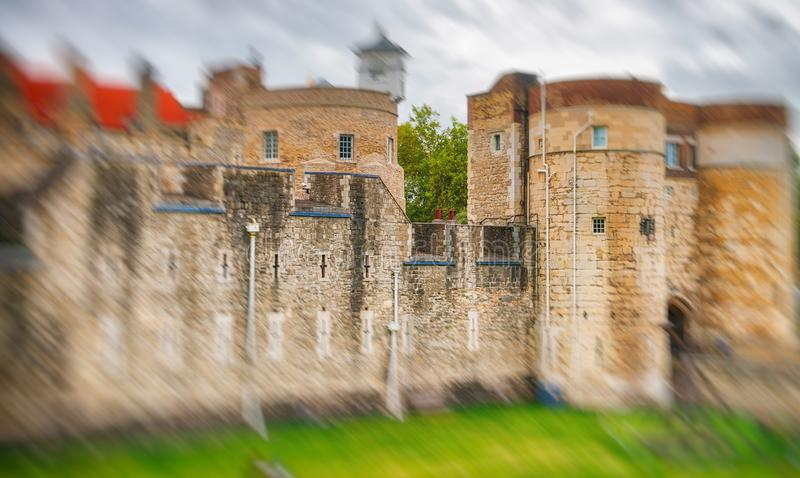 The Tower of London on a overcast day, UK.  stock image