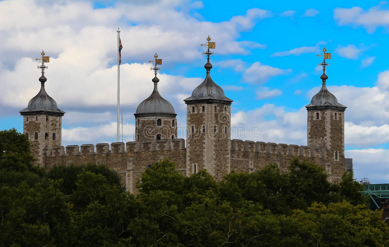 The Tower of London - Part of the Historic Royal Palaces, housing the Crown Jewels. Tower of London - Part of the Historic Royal Palaces, housing the Crown royalty free stock photography