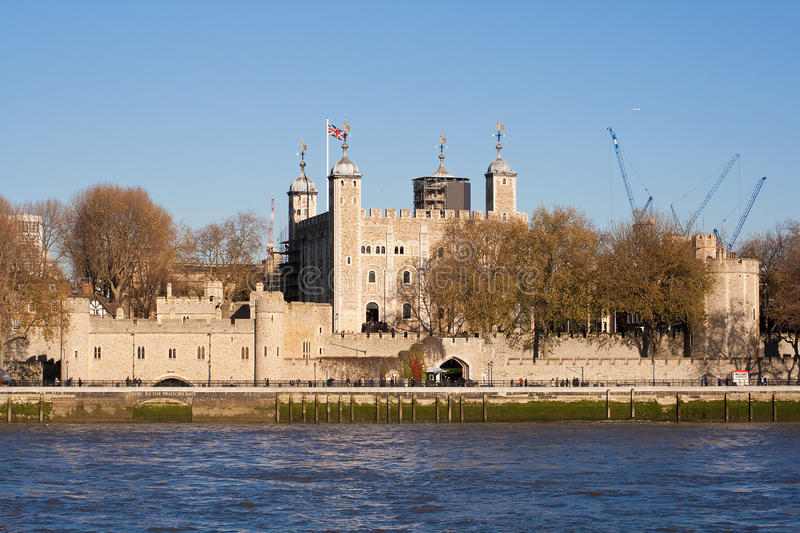 The Tower of London seen across the river Thames
