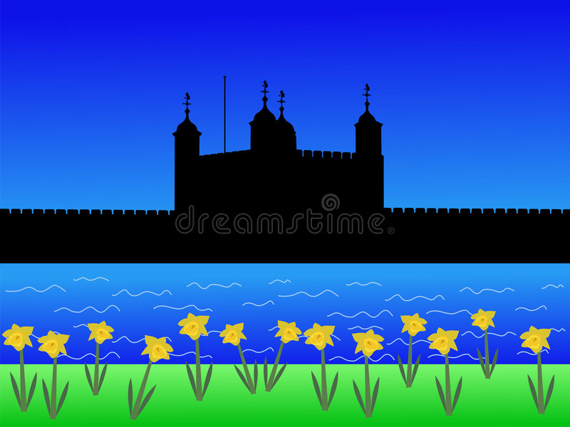 Download Tower of London in spring stock vector. Illustration of castle - 2870748