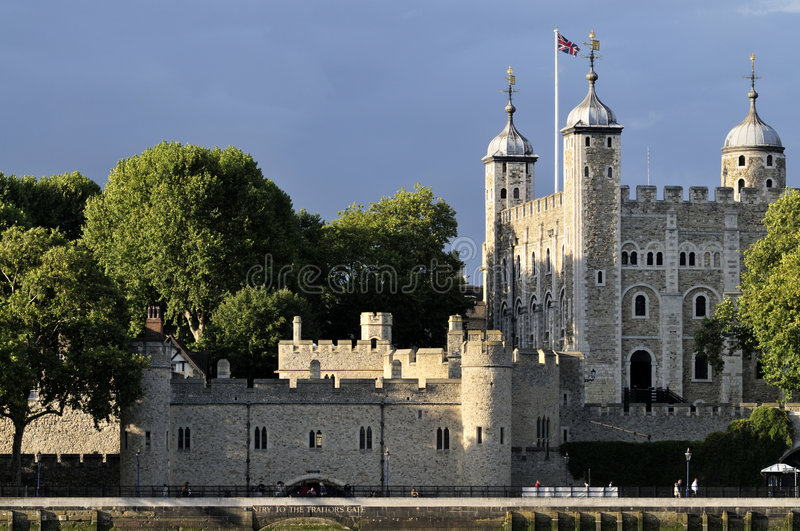 Download Tower of London at sundown stock image. Image of fortress - 6263463