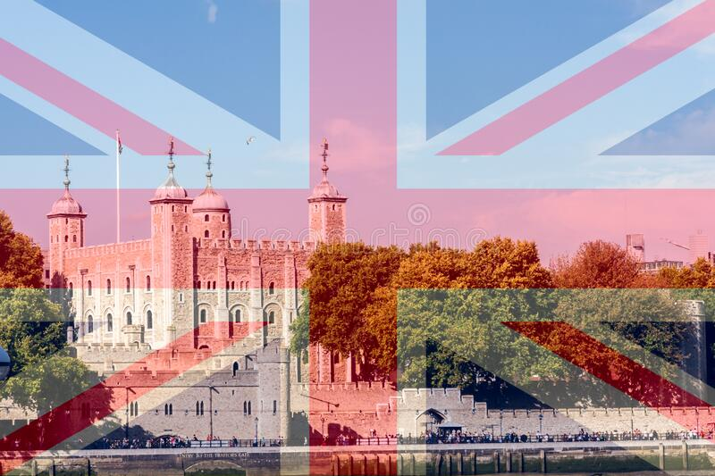 Tower of London, London on a sunny day royalty free stock photos