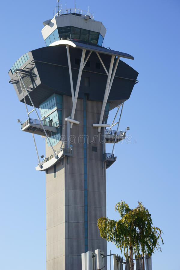 Tower Los Angeles International Airport royalty free stock images