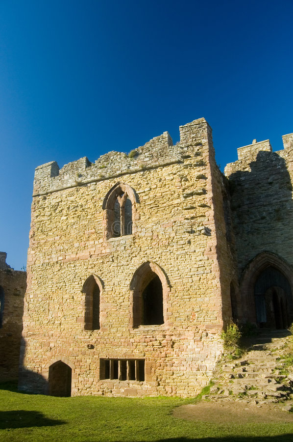 Tower at ludlow castle. Ludlow castle, ludlow, shropshire, united kingdom royalty free stock photos