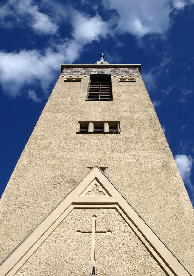 Download Tower Of The Lutheran Church Stock Photo - Image of country, front: 24776604