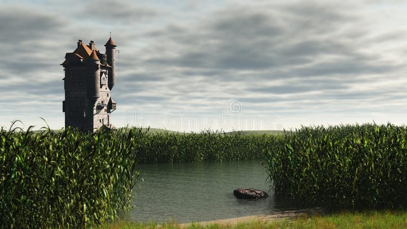 Download Tower in the Marshes stock illustration. Image of scene - 25401767