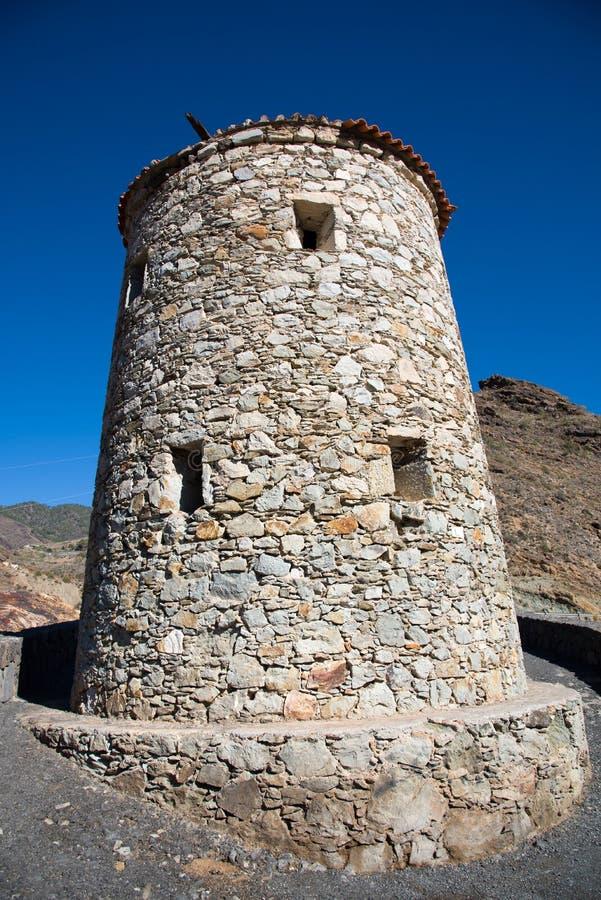 Tower on Mirador Del Molino. Tower at Viewpoint Mirador Del Molino, Gran Canaria, Spain stock photos