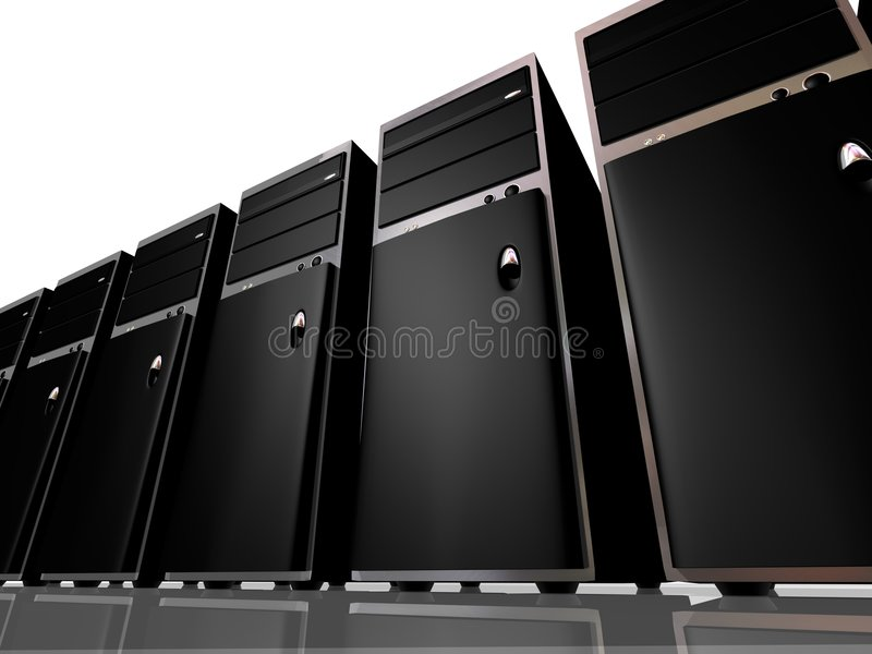 Tower model Computers or Servers royalty free illustration