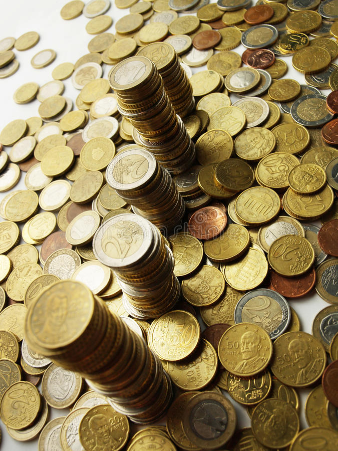 Tower of money royalty free stock image