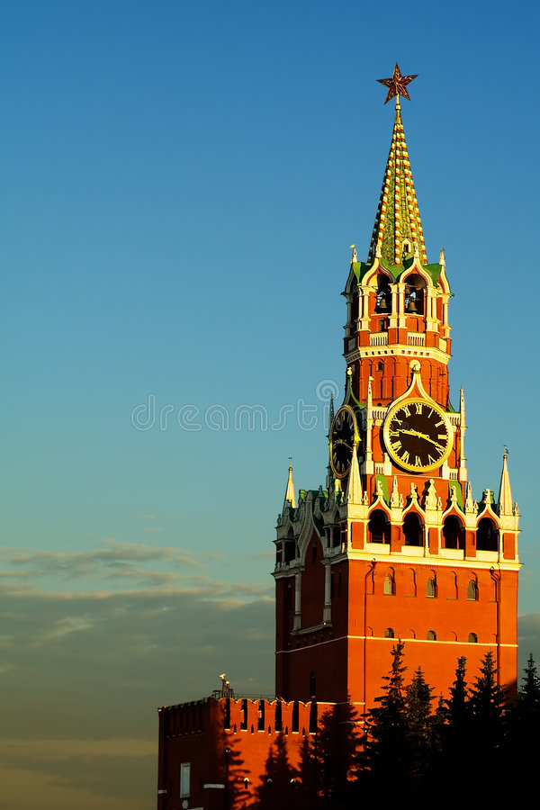 Tower of the Moscow Kremlin royalty free stock photography