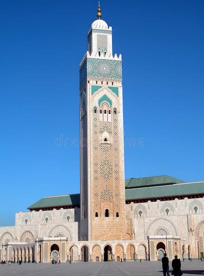 Tower of the mosque stock photos
