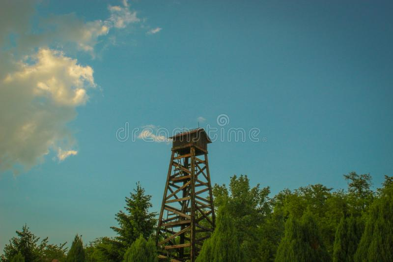 Tower in nature royalty free stock photo