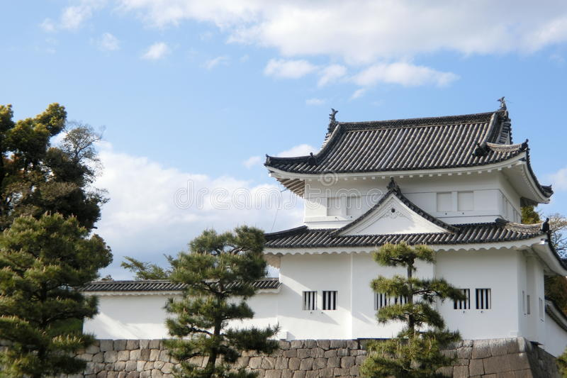 A tower at Nijo Castle at Kyoto stock image