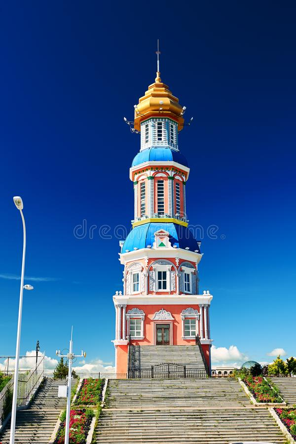 The tower in NZH Manzhouli in Inner Mongolia, China. The photo was taken in NZH Manzhouli in Inner Mongolia, China stock photography