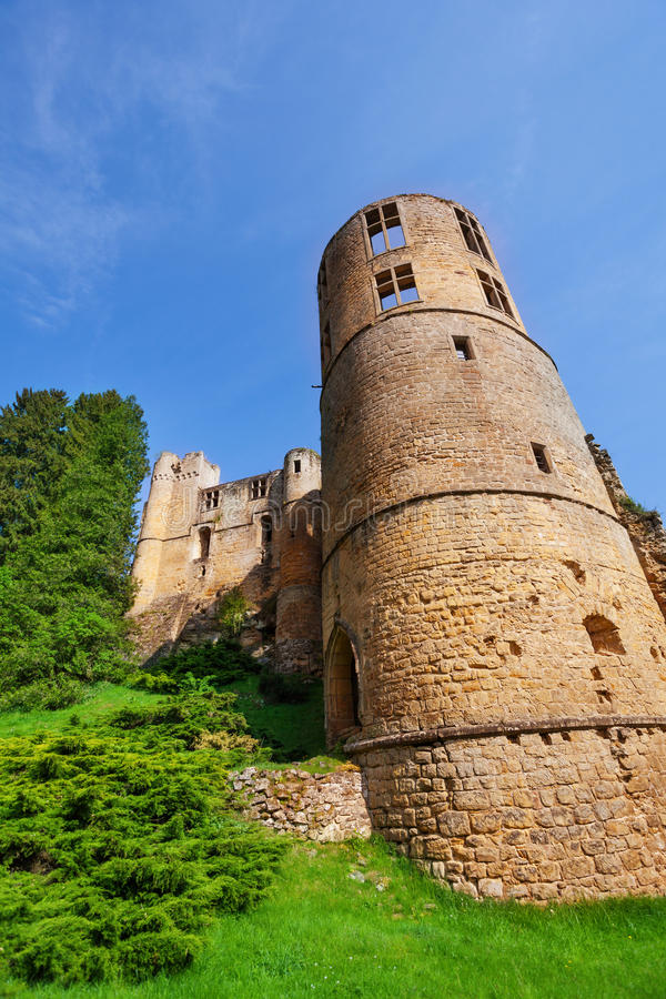 Free Tower Of Beaufort Castle In Luxembourg Stock Photography - 53682812
