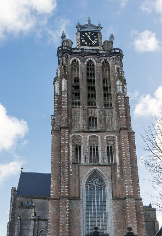 Free Tower Of The Big Church Dordrecht Royalty Free Stock Photography - 106357527