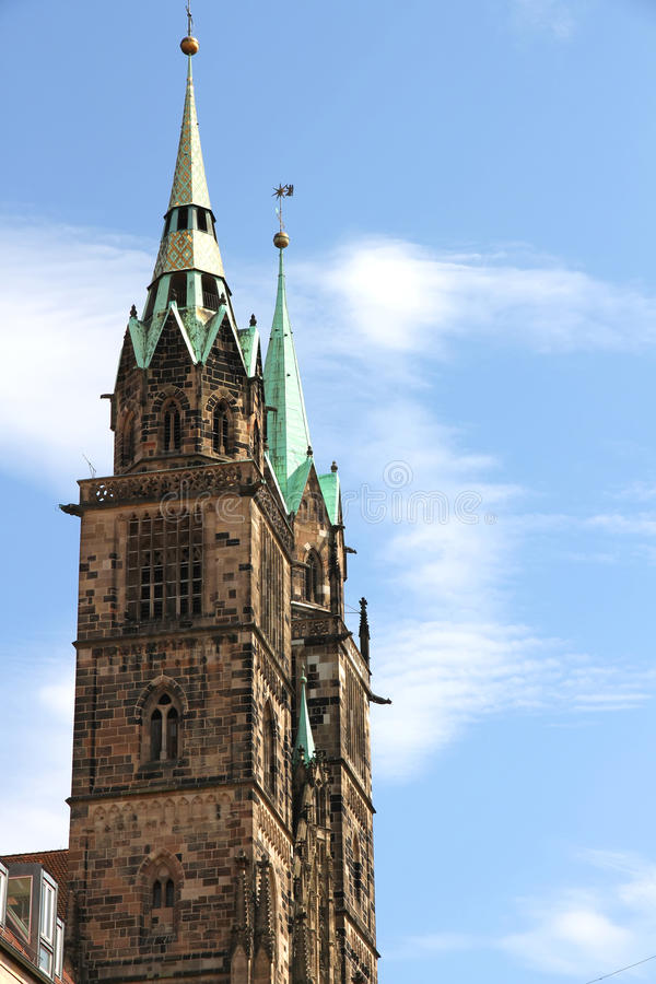 Free Tower Of The Cathedral St. Lorenz Of Nuremberg Stock Photography - 27226432
