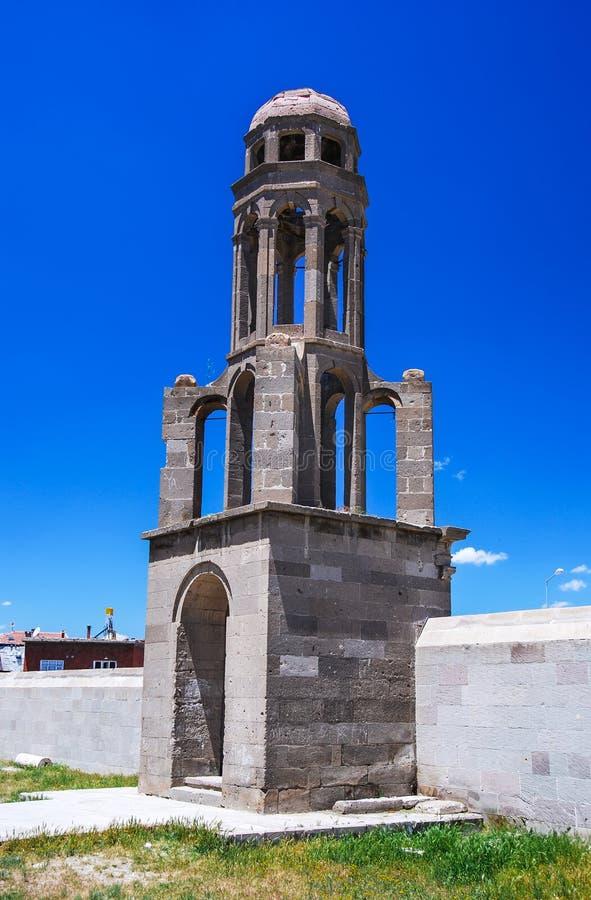 Tower of Orthodox Church Derinkuyu, Turkey royalty free stock photography