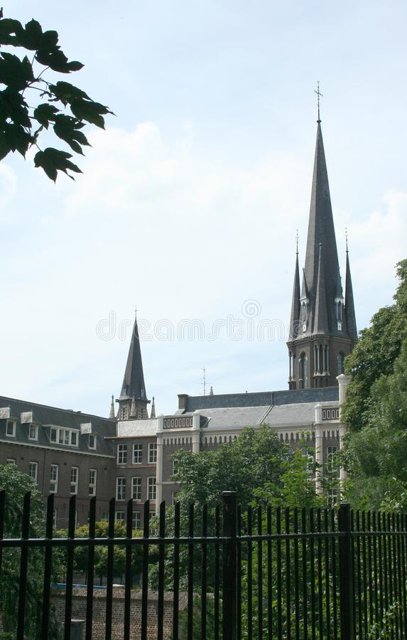 Tower of the our lady of the sacred heart church royalty free stock photo