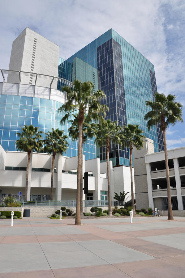 Download Tower and palm trees stock photo. Image of skyward, tower - 18487762