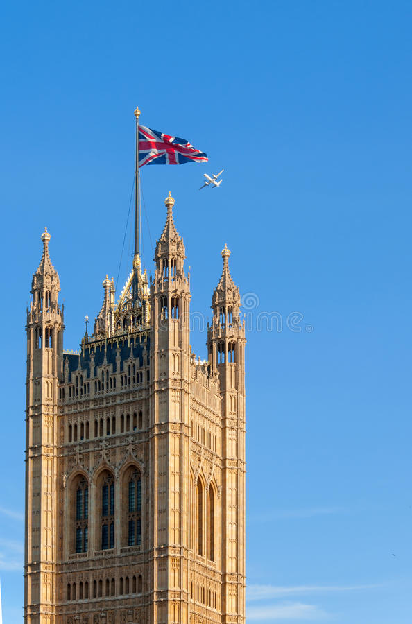 Tower of Parliament, London royalty free stock image