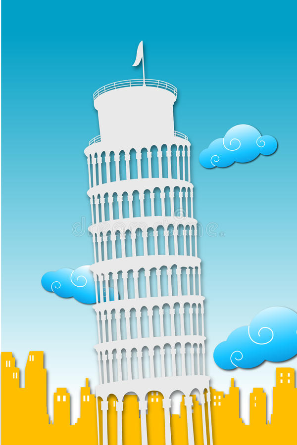 Download Tower of pisa stock illustration. Image of church, landmark - 17584569