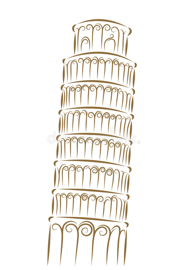 Download Tower of Pisa stock vector. Image of sketch, graphic - 23673097
