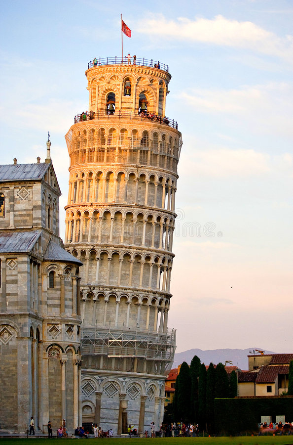 The Tower of Pisa stock photos