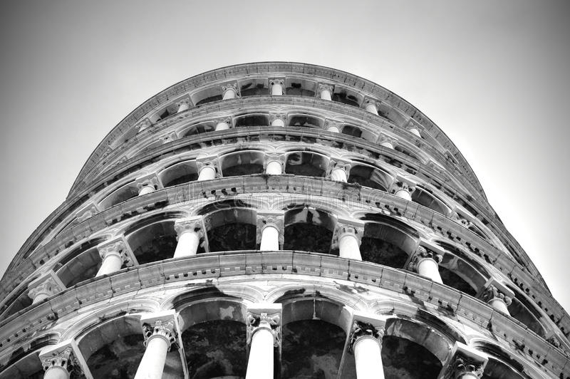 Tower of pisa against diving stock image