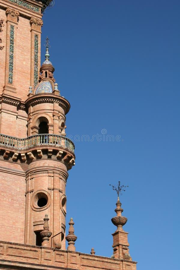 Tower In Plaza Espana, Sevilla Royalty Free Stock Image