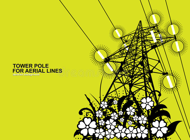 Download Tower pole stock vector. Illustration of power, insulators - 17234726