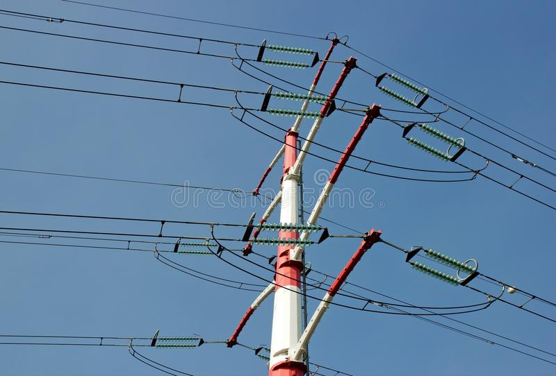 Tower And Power Line Royalty Free Stock Photo