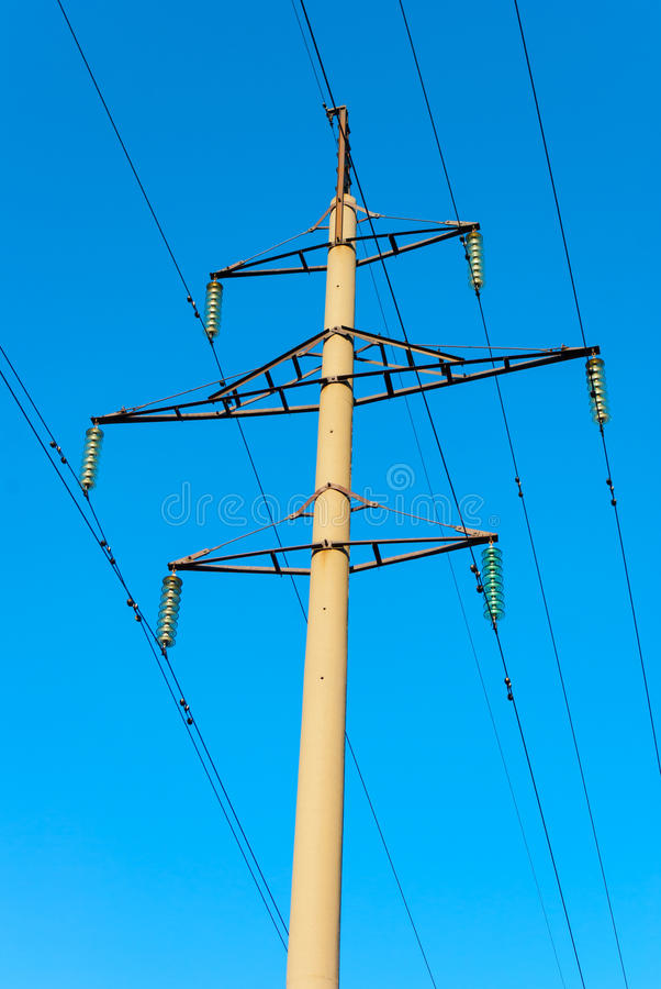Download Tower Of Power Transmission Line Stock Photo - Image of supply, isolator: 30619920