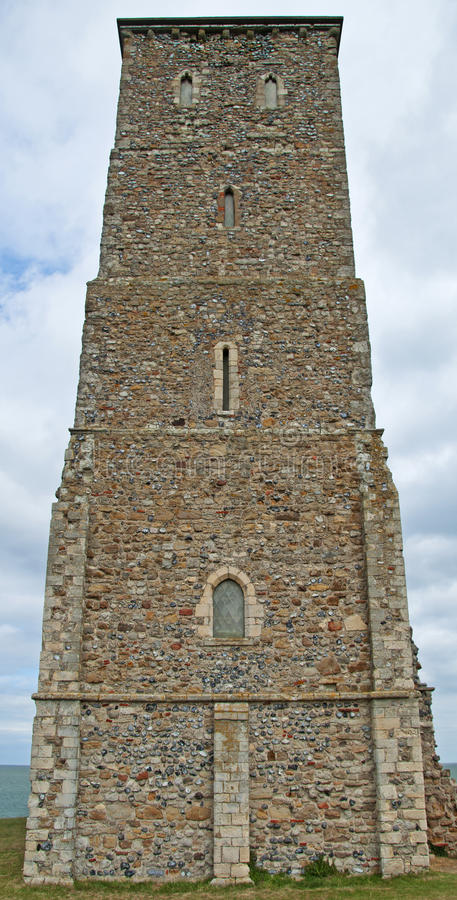 Tower at Reculver stock image