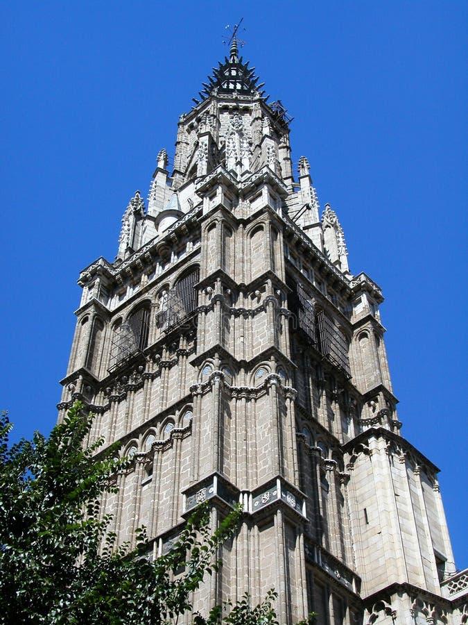 Tower of Saint Mary of Toledo, spain royalty free stock photo