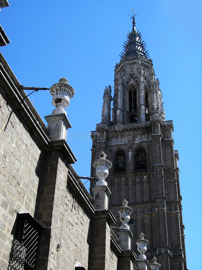 Tower of Saint Mary of Toledo, spain stock photo